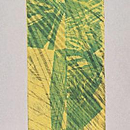 Maria Bonomi, A Forma, 1994-95. Xilogravura em papel de amoreira calambrado; impressão manual com colher de bamboo, 240 x 120 cm (Foto: Del Carmen)