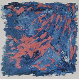 Marcello Nitsche, Sem título, 2000. Acrílico sobre pvc, 100 x 100 cm (Foto: Del Carmen)