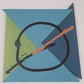 Gilberto Salvador, Phraxii-azul/verde, 1999. Acrílico sobre tela montada, 116 x 116 cm (Foto: Del Carmen)